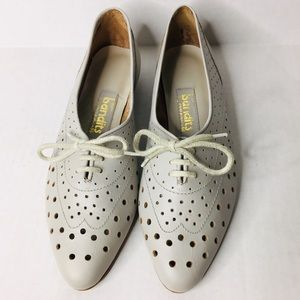 NEW Vintage Bandits leather oxford lace loafers 8